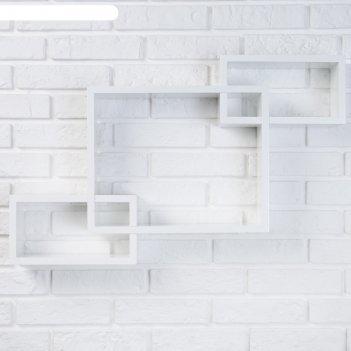 Полка настенная rooker белая глянцевая 69*47*10 см.