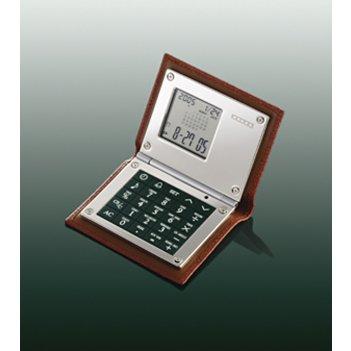 Калькулятор многофункциональный в кожаном футляре