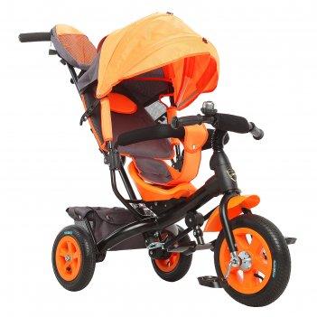 Велосипед трёхколёсный «лучик vivat 1», надувные колёса 10/8, цвет оранжев