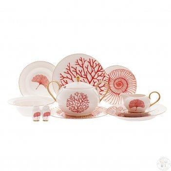 Столовый сервиз на 6 персон 26 предметов corallo