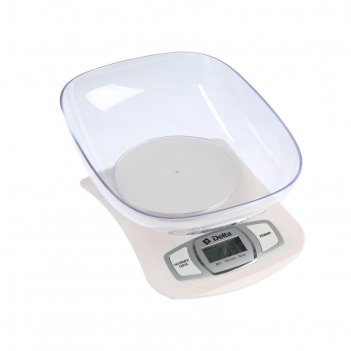 Весы кухонные delta kce-40-21, электронные, до 5 кг, белые