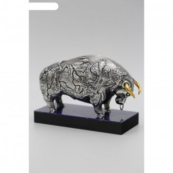 Символ года 2021 «бык», 135 x 55 x 100 мм, подставка из камня лазурит