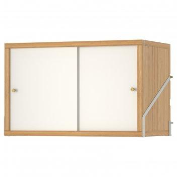 Шкаф с 2 дверьми свальнэс, бамбук, белый