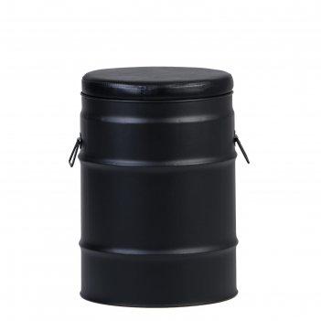 Табурет бочка черный/черный