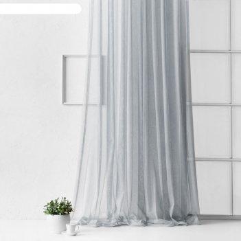 Портьера «грик»,  размер 300 x 270 см, цвет серый