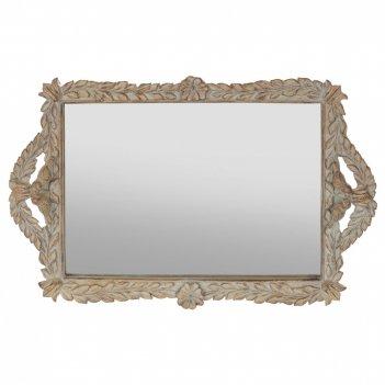 Поднос с зеркалом, l39 w25 h4 см
