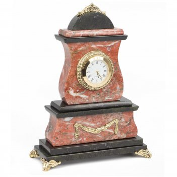 Часы креноид змеевик бронза 175х75х235 мм 2200 гр.