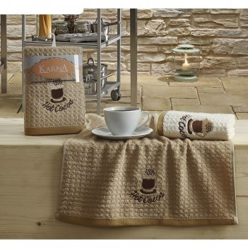 Набор кухонных полотенец lemon, размер 45х65 см-2 шт., махра 350 г/м2 v4 2