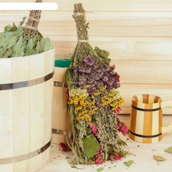 Веник для бани травяной коктейль из донника, мяты, дущицы, полыни и пижмы