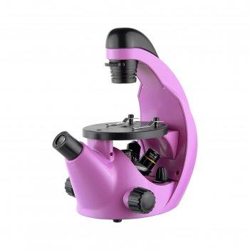 Микроскоп школьный эврика 40х-320х инвертированный, цвет аметист