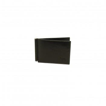Зажим для денег 11.2x0.5x8.3 см, цвет чёрный