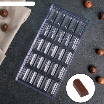 Форма для шоколада 25 ячеек батончик 28х14х2,5 см