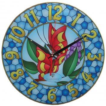 Настенные часы тиарелла витраж-7 из стекла