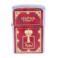 Зажигалка бензиновая пермь. герб