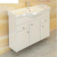 Тумба-умывальник для ванной сочи-100 88 х 105 х 52 см с раковиной comforty