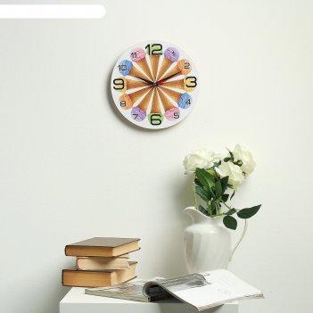 Часы настенные круглые 12 рожков , 24 см