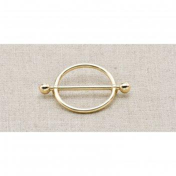 Пуговица металлическая, цвет золото (пм28)