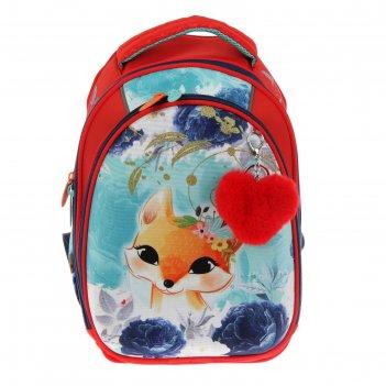 Рюкзак каркасный luris «джой», 38 х 27 х 19 см, + мешок для обуви, «лиса»,