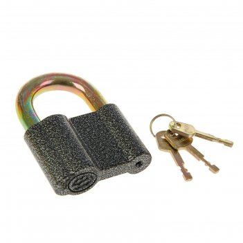 Замок навесной аллюр вс2с, дужка d=14 мм, 3 ключа с двойной нарезкой, цвет
