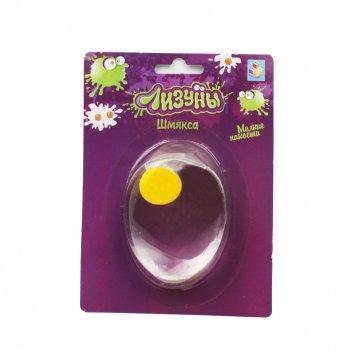 1toy мелкие пакости лизун шмякса яйцо прозрачное, 6 см, блистер
