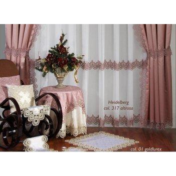 """Скатерть """"веймар"""" 1,7 х 3,6 розовая"""