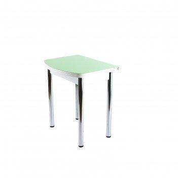 Стол поворотно-раскладной спг-07 ст2 белое/фисташка/хром прямые