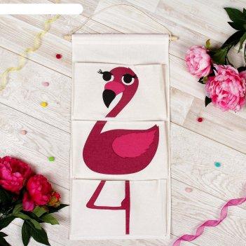 Кармашек подвесной водонепроницаемый фламинго