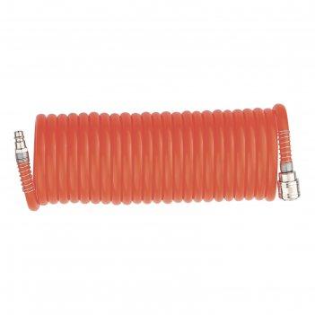 Шланг matrix, спиральный, воздушный, 10 м, с быстросъёмными соединениями
