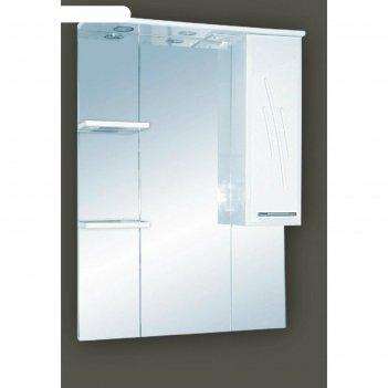 Шкаф-зеркало misty флори 85, правый, с подсветкой