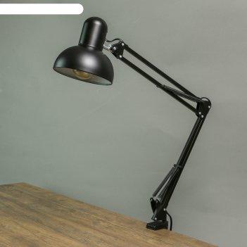 Лампа настольная на шарнире 800 крус, чёрная e27 40w