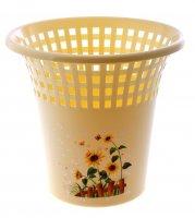 Корзина для мусора цветочная соната, желтая