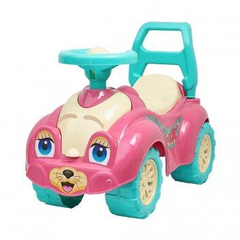 Т0823 каталка zoo animal planet кошка розовая