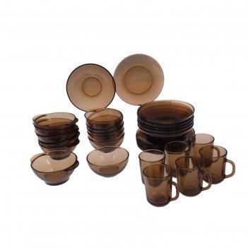 Сервиз столовый basilico. дымка ca del vetro, 30 предметов