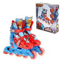 Роликовые коньки человек паук, раздвижные, колеса pvc 64х24 мм, пластикова