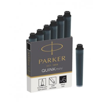 Чернильный мини картридж parker для перьевой ручки. для использования в пе