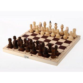Шахматы обиходные парафинированные в комплекте с доской (без подклейки) (о
