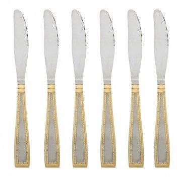 Набор столовых ножей 6 штук золотая фантазия l=22см. (нержавеющая сталь) (