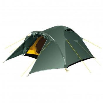 Палатка, серия trekking challenge 3, зеленая, трехместная