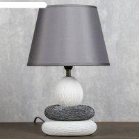 Лампа настольная керамика е14 40вт 220в сад камней: чистота 34,5х22,5х22,5