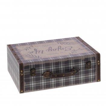 Шкатулка чемодан, l40 w30 h15 см