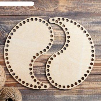 Заготовка для вязания инь-янь, донышко из фанеры, 3 мм (набор 2 в 1), разм