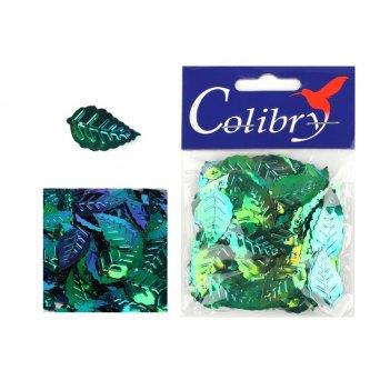 Пайетки фигурные голографические colibry 14х25мм
