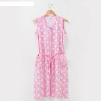 Халат женский, цвет розовый, размер 52