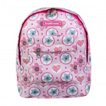 Рюкзачок детский erich krause easyline mini, 25 х 20.5 х 11, pink flowers,