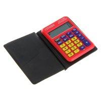 Калькулятор карманный 8разр, 58*87*12мм, пит.от батарейки, красный lc-110n