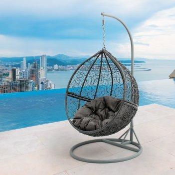 Подвесное кресло шар mi casa bola gray, садовая мебель