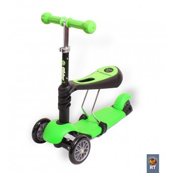 Yg31g y-bike glider seat green каталка-самокат с сиденьем