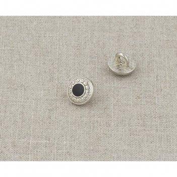 Пуговица металлическая, размер 10 мм