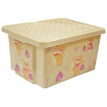 Ящик для хранения игрушек x-box bears 1023ir