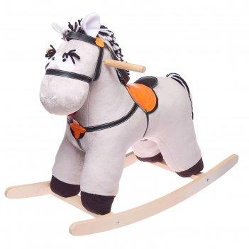 Качалка конь свэн серый 691-2020